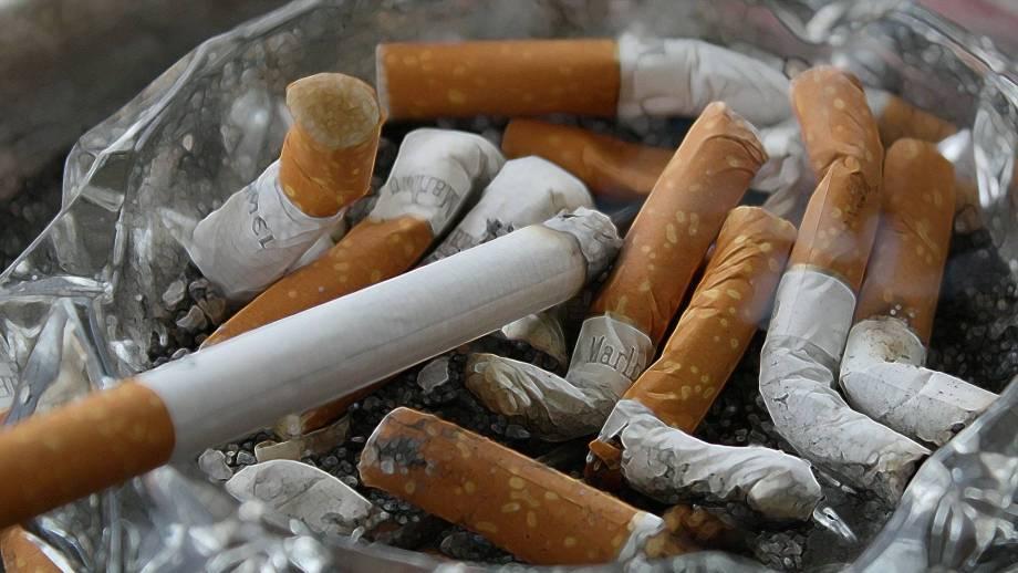 sigaretten in asbak